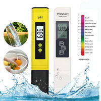 LCD Digital Electric PH EC TDS Meter Tester Hydroponics Aquarium Water Test Pen