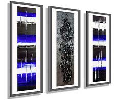 ORIGINAL Leinwand Bild –handgemalt– Abstrakt XXL moderne Kunst  Acryl  Blau