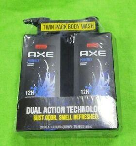 AXE Phoenix Body Wash Men 2 bottles 28 oz. Clean Fresh Showel Gel Crushed Mint