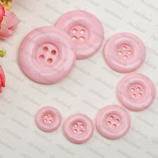 Colorful Round 4 Holes Resin Buttons Flower arrangement art DIY Sewing Craft Toy