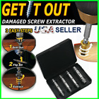 4pc Broken Bolt Remover Screw Extractor Easy Out Drill Bits Stud Reverse Damage