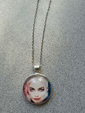 SUICIDE SQUAD HARLEY QUINN UNISEX SILVER PENDANT NECKLACE ADULT / KID NEW