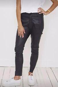 Scanlan & Theodore Black Leather Pants Size 10