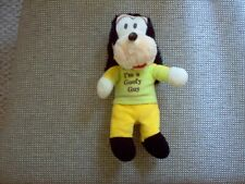 "Vintage Disney ""I'm a Goofy Guy"" 8.25"" Bean Bag Plush, Fair Condition"