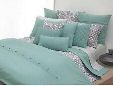 6 pcs DKNY Pure Block Print Twin Sheet Set Bedskirt Pillowcases & Sham Rainwater