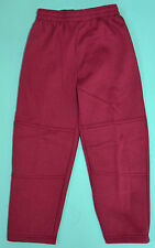 NEW Fleece Pants unisex School Uniform Double Knee Maroon Size 5,6,8,10,12,14,16