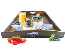 Serviertablett XL dunkel Betttablett Holztablett Frühstückstablett Tablett Buche