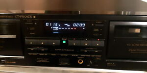 Pioneer CT-W606DR ct 606 double cassette stereo vintage deck HIFI tape recorder