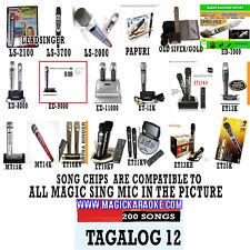 ENTERTECH MAGIC SING KARAOKE MIC TAGALOG 12 Videoke Song Chip Xtreme 2