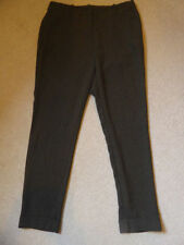 Viscose Regular Size High Rise 28L Trousers for Women