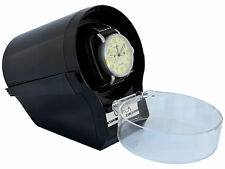 Timer Automatic glossy Black Watch Winder Case Box Storage