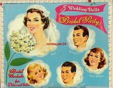Vintage Uncut 1950's Bridal Party Paper Dolls~#1 Reproduction~Lovely Wedding Set