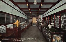 Postcard Interior Wheeler's Jewelry Store in Columbia, Missouri~111254