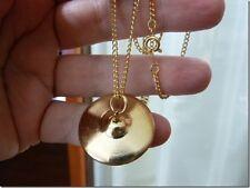 "(M-316-K) miniature Cymbal 24k goldplt pendant + 18"" necklace Percussion drums"