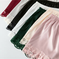 Women Satin Lace Knickers Panties Shorts Briefs Underpants Faux Silk Underwear