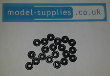Original Matchbox 7mm Black Plastic Wheels - Pack of 20