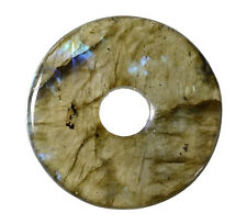 Labradorite Donut 30 mm Pendentif/Labradorite Donut dn179