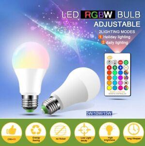 Bombillo LED Cambia de Color  5W 10W 15W RGB Multicolor 110V 220V E27 RGB