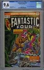 Fantastic Four #144 CGC 9.6 NM+ Wp Vs. Doctor Doom Marvel 1974 RARE WHITE PAGES