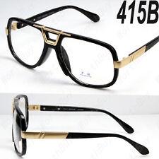 Black Gold DMC Square Gazelle Style Clear Lens Frame Glasses Fashion Designer 5b