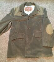 VINTAGE WOOLRICH CORDUROY SHOOTING JACKET-SUEDE ELBOW&CHEST PATCH/WOOL LINER!46