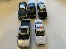 1/32 Diecast Lot Of 5 Police Toy Cars Trucks