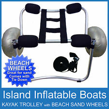 BEACH KAYAK TROLLEY COMPACT COLLAPSIBLE Alloy Canoe Ski Alloy Cart 100kg Wheels