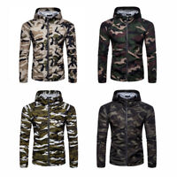 Men Camouflage Army Jacket Hooded Hoodie Soft Shell Mens Hunting Coat Bear Dirty