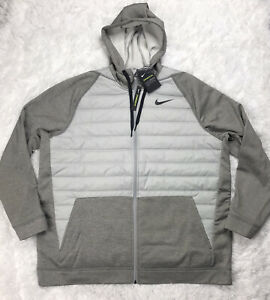 Nike Therma Winterized Synthetic Fill Full Zip Hooded Jacket Mens Size 2XL XXL