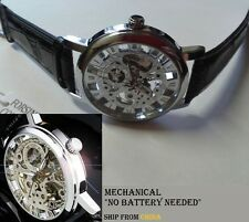 AAA GENUINE Watch Winner Mechanical Mechanic Automatic Skeleton Montre Mecanique