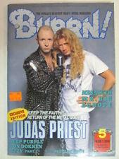 BURRN! JAPANESE HEAVY METAL MAGAZINE 5 MAR 1991 MEGADETH DEEP PURPLE DOKKEN VG+
