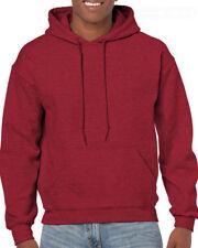Antiguo Rojo Cereza Adulto Gildan Liso Capucha Mezcla Resistente jersey