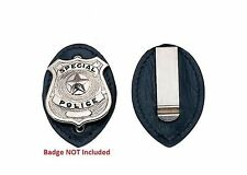 Police Security Store Detective Loss Prevention Officer Badge Holder w Belt Clip
