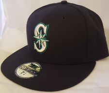 NWT NEW ERA Seattle MARINERS navy 59FIFTY size 7 1/4 fitted baseball cap hat mlb