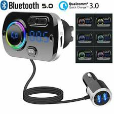 FM Transmitter Auto Bluetooth Kfz Radio Adapter mit Dual USB für Handy DE STOCK
