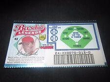 1999 Ohio RARE Sample Lottery Ticket of George Foster of the Cincinnati Reds