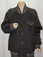 Rocawear Mens Bomber Jacket Airman Wool Leather Black Size 3XL
