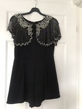 TFNC Topshop Size Small (8-10) Beaded Cape Playsuit