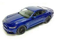 Maisto 2015 Ford Mustang GT 5.0 1:24 Diecast Model Car 34508 BLUE