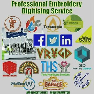 Embroidery Digitising Services, Embroidery Files, Quick Turn around, UK based