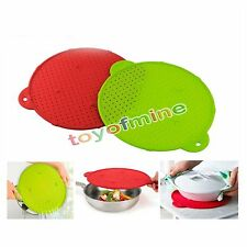 Silicone Splatter Guard Pan Skillet Pan Cover lid Round Spill Stopper Pot Screen