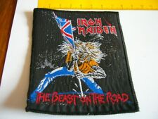 IRON MAIDEN – very rare old original 80s THE BEAST ON THE ROAD Patch!!!