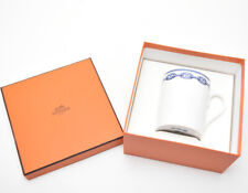 Hermes Porcelain Chaine D'Ancre Blue Mug Cup Tableware Ornament Auth New 300ml