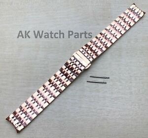 19mm ROSE GOLD Strap Fits Tissot Carson T085407A T085410A Bracelet/Band Watch