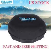 TELESIN Dome Port Protective Cover Storage Bag Hood for Gopro Hero Sports Camera