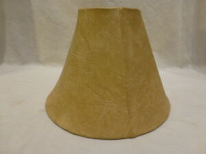 """ROYAL DESIGN DEEP EMPIRE TABLE LAMP SHADE MOUTON ROUND BELL 5""""Top 12""""B 9""""HT $96"""