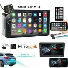 7 Inch Double 2 Din Screen Car MP5 Player Bluetooth Stereo FM Radio+Camera