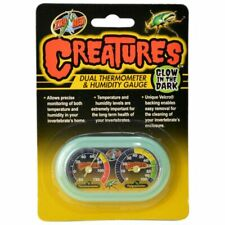 New listing Zoo Med Ct-11G Creatures Dual Thermometer & Humidity Gauge