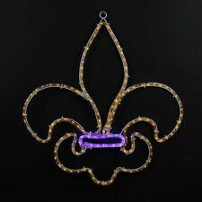 Novelty Lights Fleur De Lis Rope Light Motif Sculpture, Mardi Gras Decorations