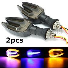 2 Universal Motorcycle Bike LED Turn Signal Indicator Running Light Lamp Blinker